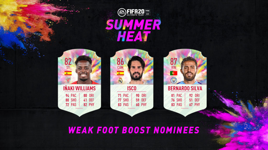 FIFA 20: votazione Summer Heat boost piede debole