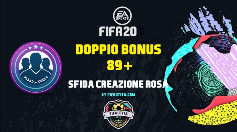 FIFA 20 pre-Season: SBC doppio bonus 89+