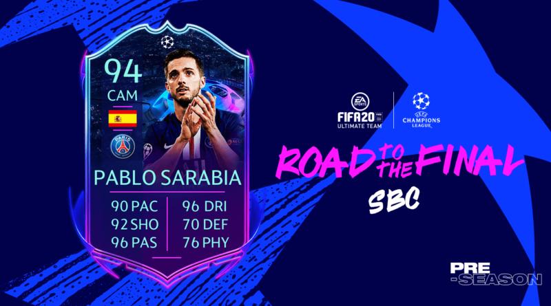 FIFA 20: Sarabia UCL Live SBC