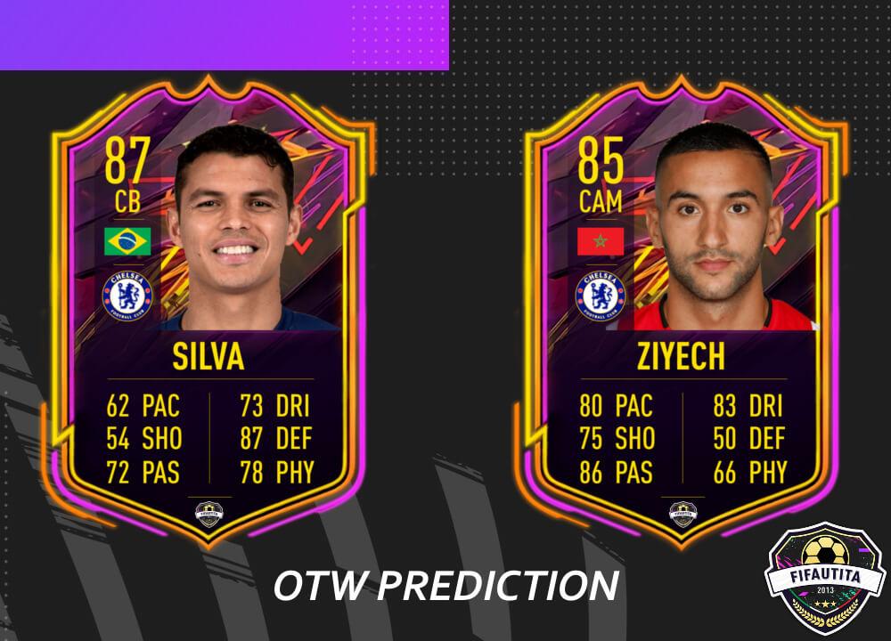 FIFA 21: Thiago Silva e Ziyech OTW prediction
