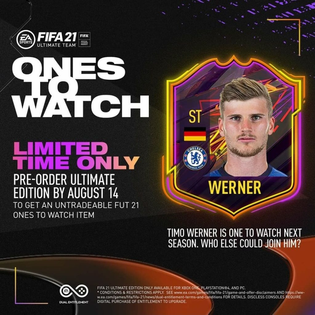 FIFA 21: Werner official Ones to Watch