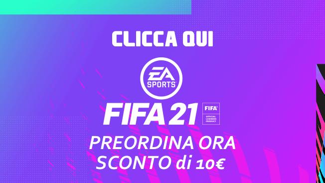 Preordina FIFA 21 con 10 € di SCONTO