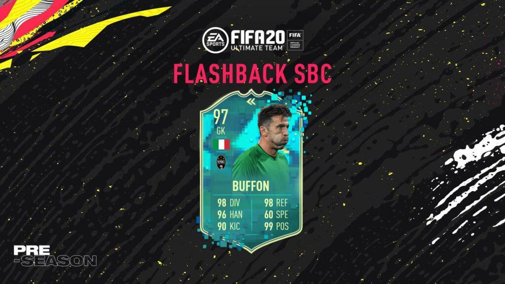 FIFA 20: Gigi Buffon flashback SBC