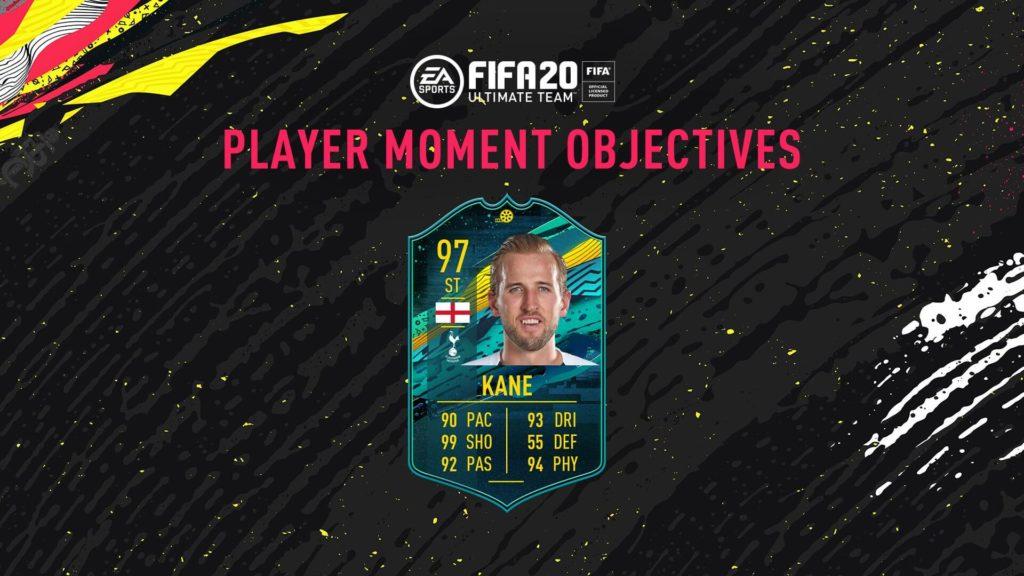 FIFA 20: Kane player moments obiettivi