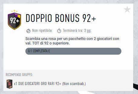 FIFA 20: SCR doppio bonus 92+