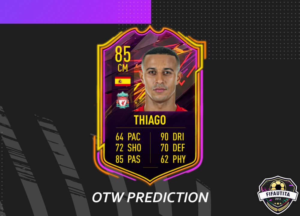 FIFA 21: Thiago Alcantara OTW prediction