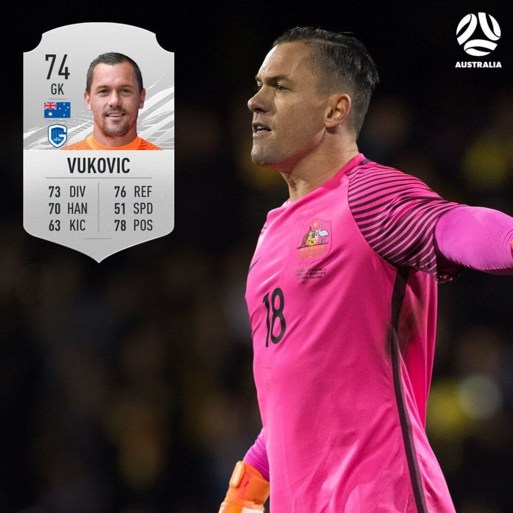 FIFA 21: australian Vukovic ratings