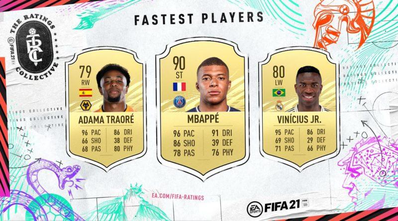 FIFA 21 ratings: giocatori più veloci
