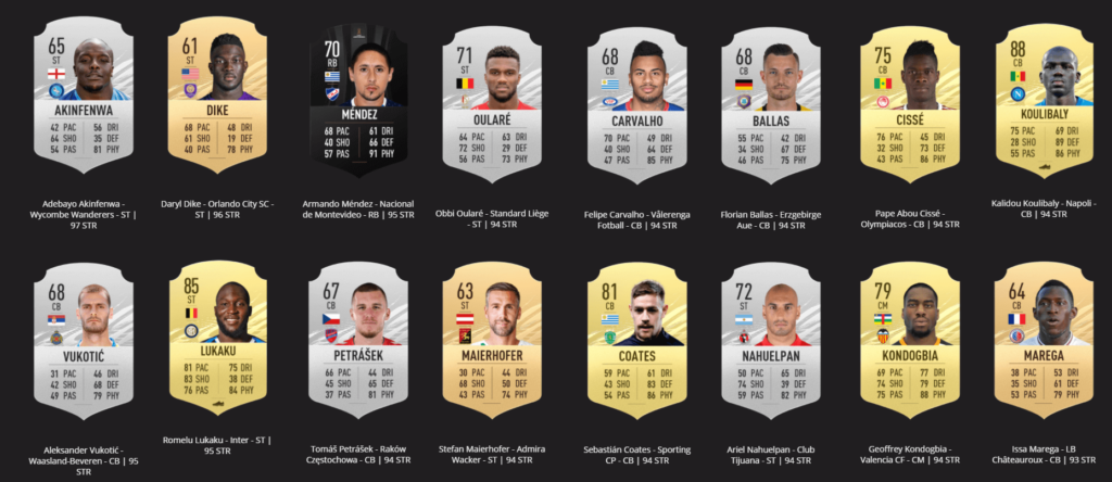FIFA 21 ratings: strongest players