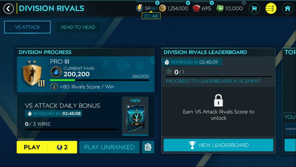 FIFA Mobile Division Rivals