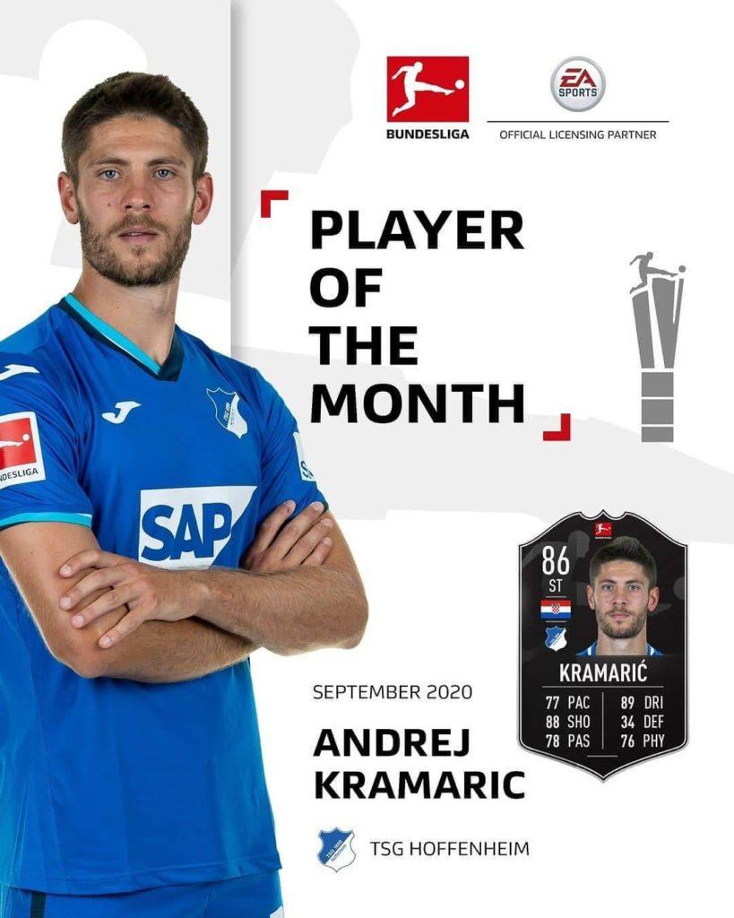FIFA 21: Kramaric POTM di settembre in Bundesliga