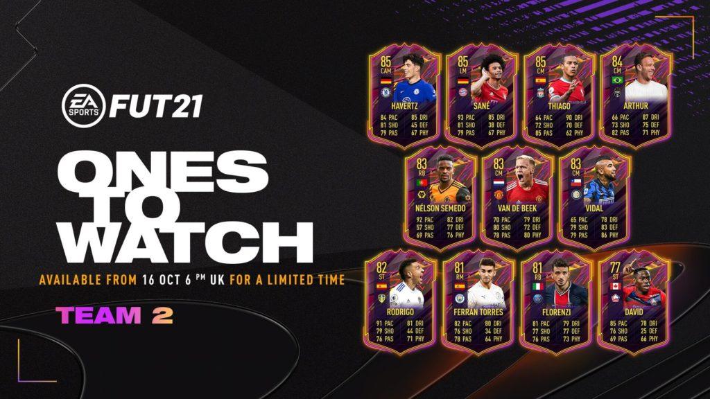 FIFA 21 OTW: Ones to Watch team 2
