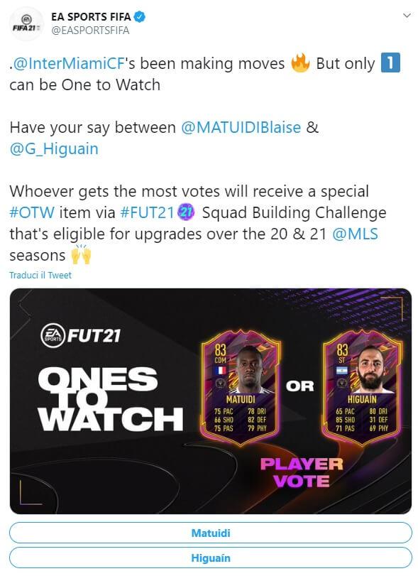 FIFA 21 OTW: votazione fra Matuidi e Higuain