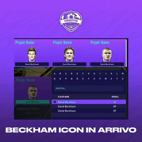 FIFA 21: David Beckham icon in FUT