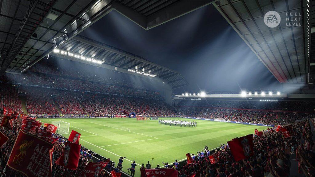 FIFA 21: screenshots stadio Liverpool PS5 e XBOX Serie X
