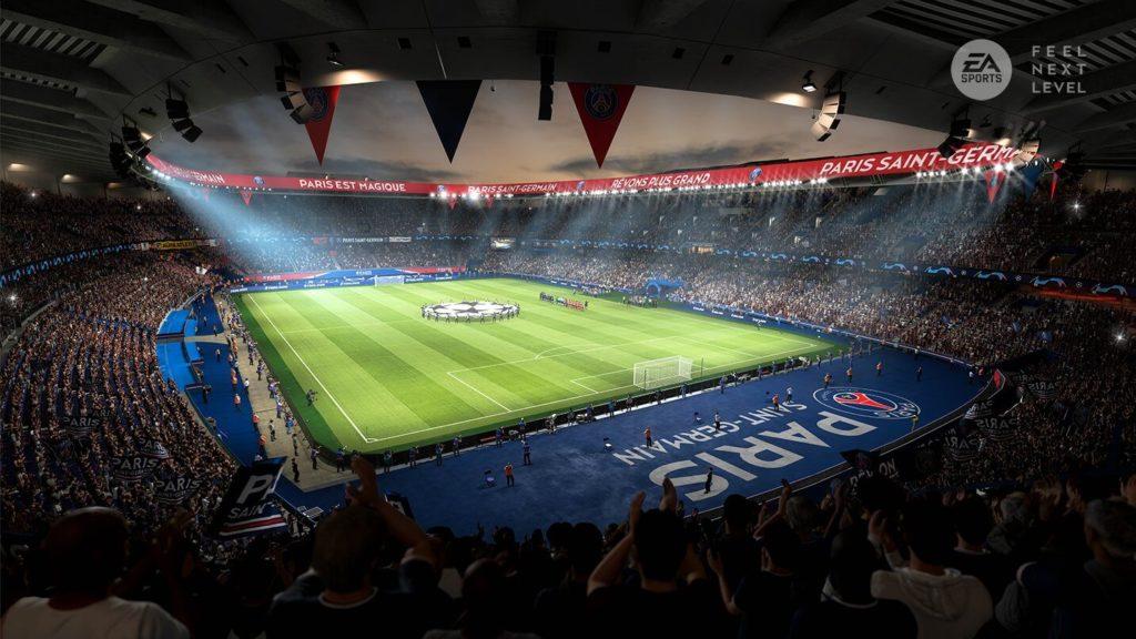 FIFA 21: screenshots stadio PSG PS5 e XBOX Serie X