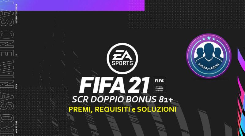 FIFA 21: sfida creazione rosa aggiornamento doppio bonus 81+