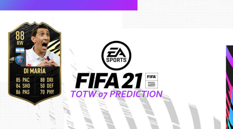 FIFA 21: Team of the Week 07 prediction