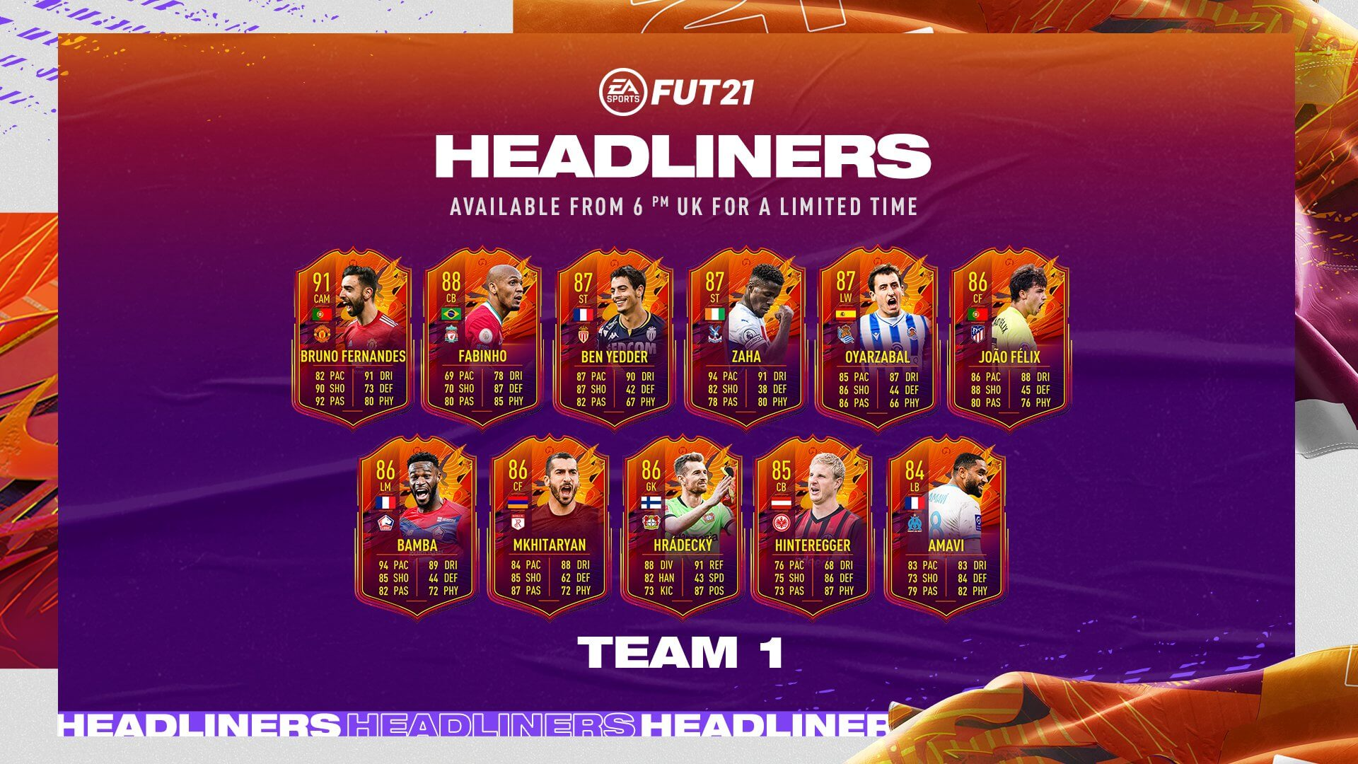 FIFA 21: Headliners team 1