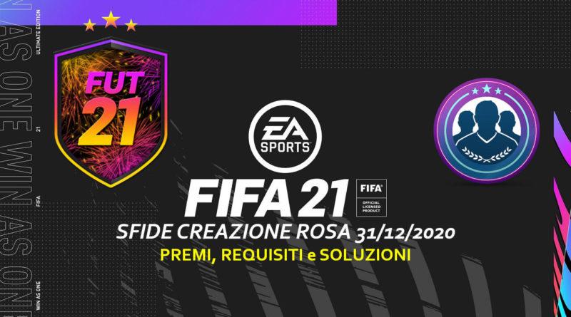FIFA 21: sfida creazione rosa anno nuovo e capodanno giapponese