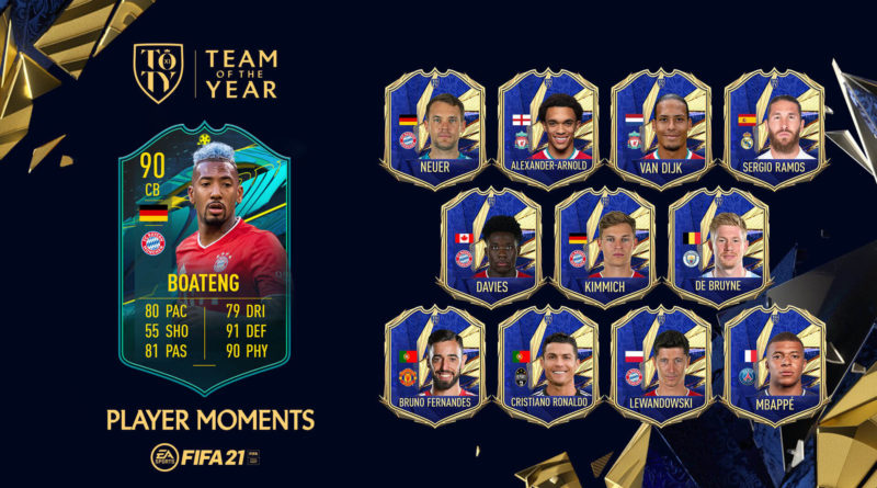 FIFA 21: SCR Boateng Player Moments TOTY