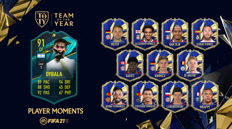 FIFA 21: SCR Dybala Player Moments TOTY