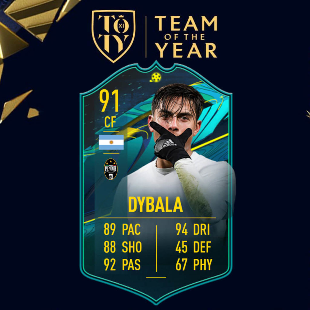 FIFA 21: Dybala TOTY player moments SBC