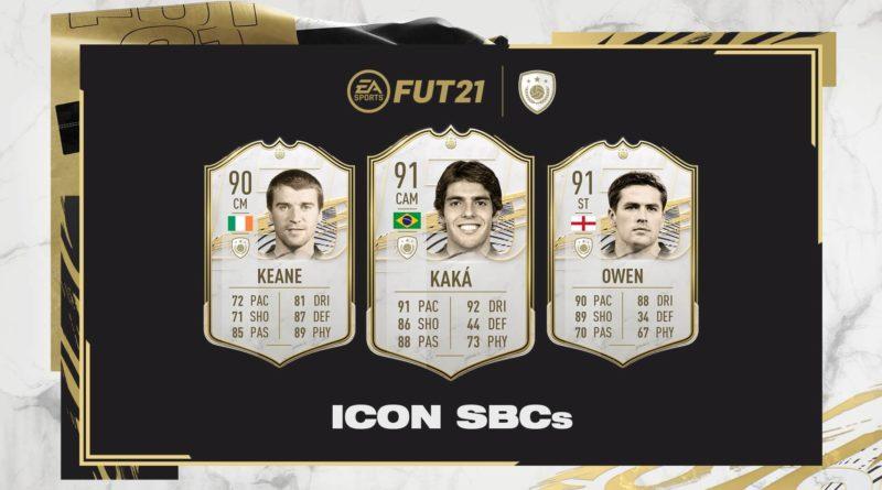 FIFA 21: Keane, Kakà e Owen Icon SBC