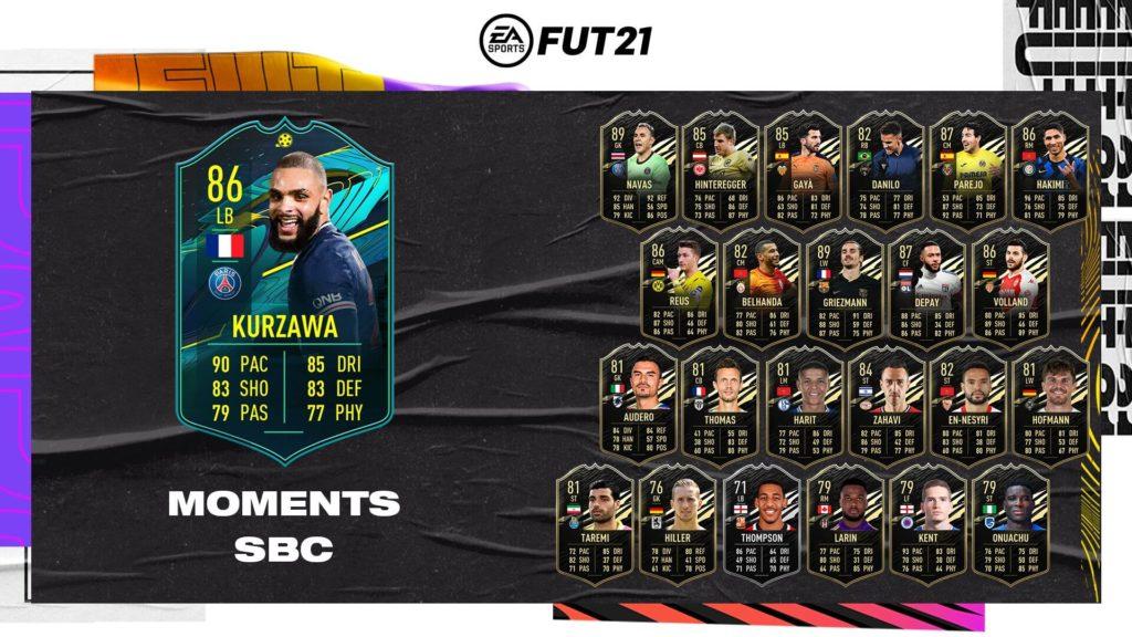 FIFA 21: Kurzawa player moments SBC