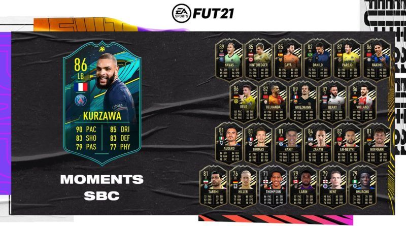 FIFA 21: Kurzawa player moments SBC
