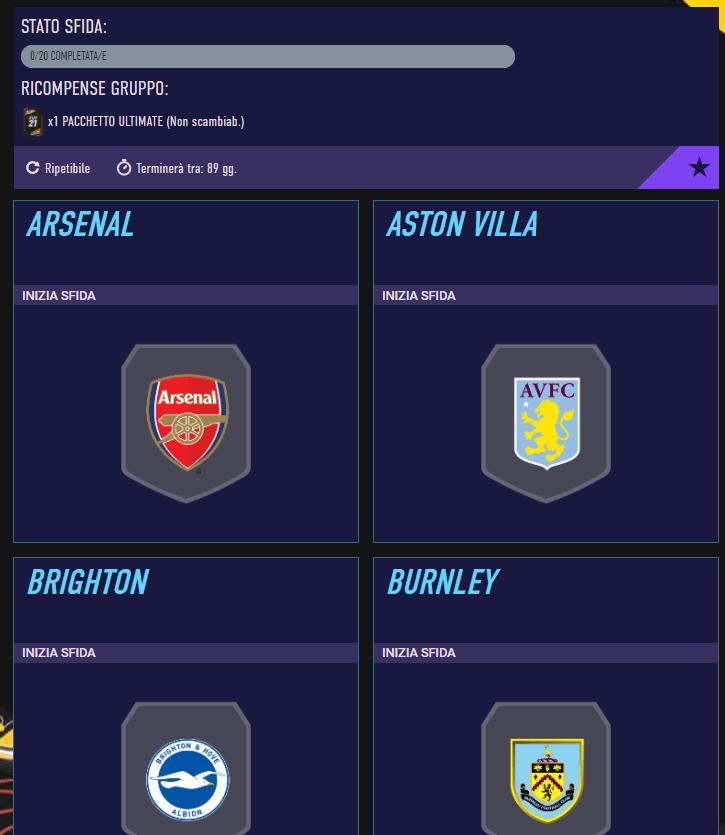 FIFA 21: requisiti League SBC Premier