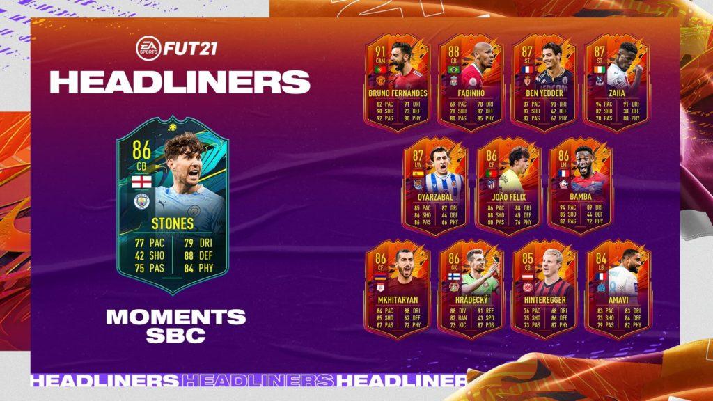 FIFA 21: Stones player moments SBC