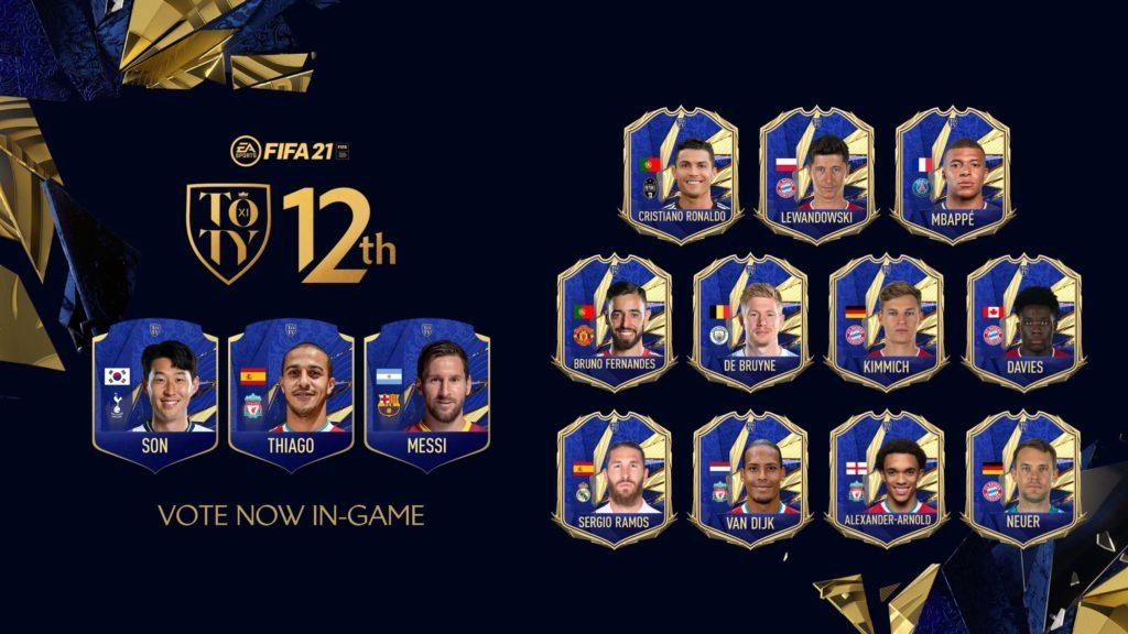 FIFA 21: votazione 12° TOTY - Heung Min Son, Thiago Alcantara e Messi