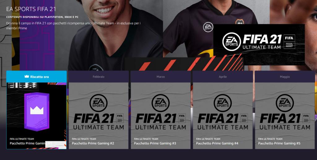 FIFA 21: pacchetto omaggio per utenti Twitch Prime Gaming