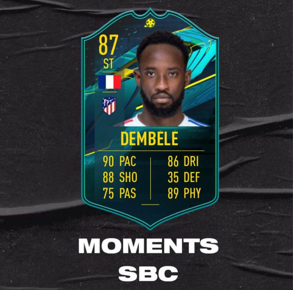FIFA 21: Moussa Dembele player moments SBC