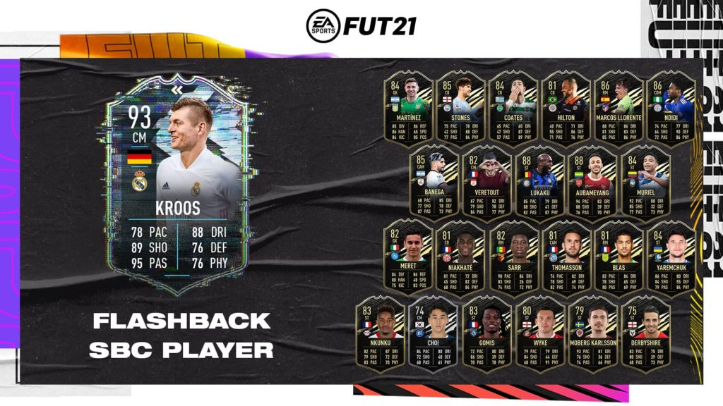FIFA 21: Tony Kroos flashback SBC