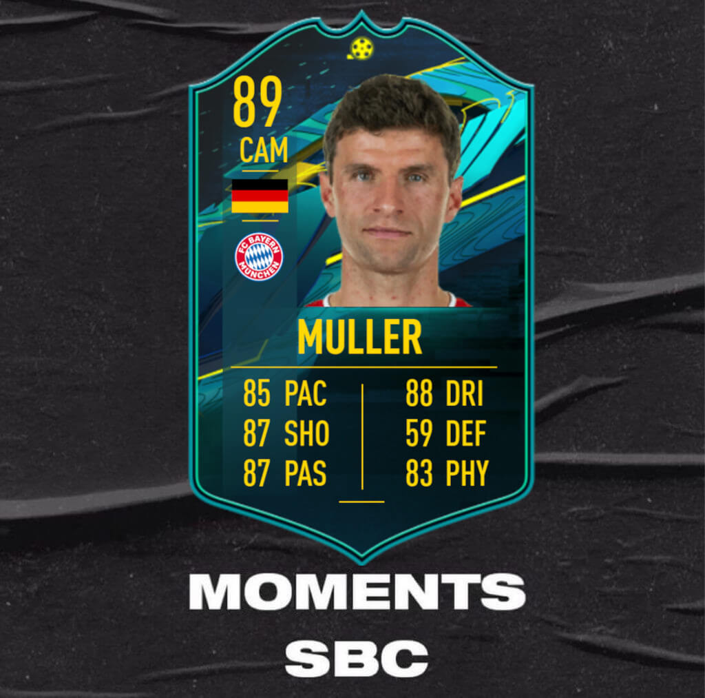 FIFA 21: Thomas Muller player moments SBC
