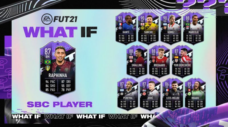 FIFA 21: Raphinha What IF SBC