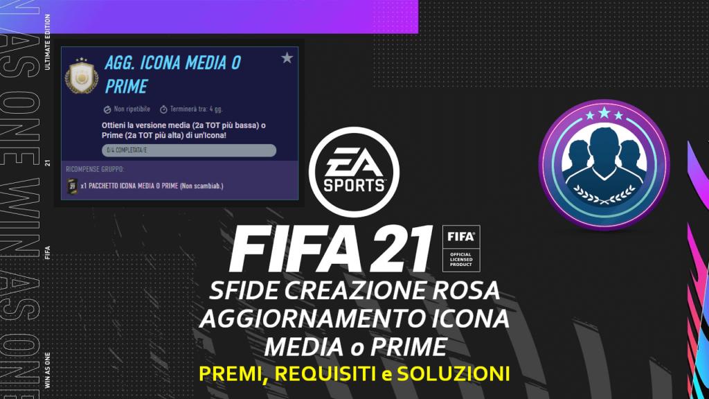 FIFA 21: SCR aggiornamento icona media o prime