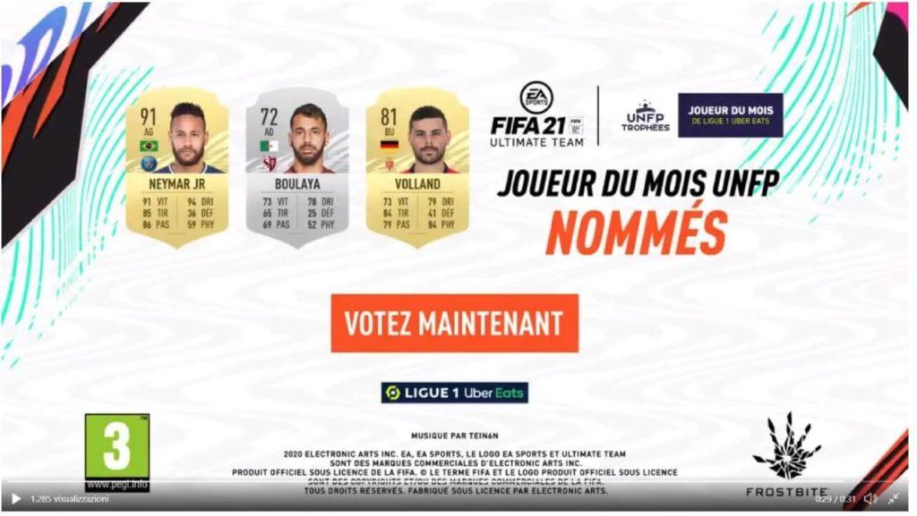 FIFA 21: candidati al premio di POTM di gennaio in Ligue 1 Uber Eats