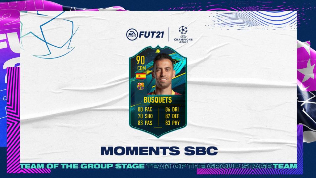 FIFA 21: Busquets UCL Player Moments SBC