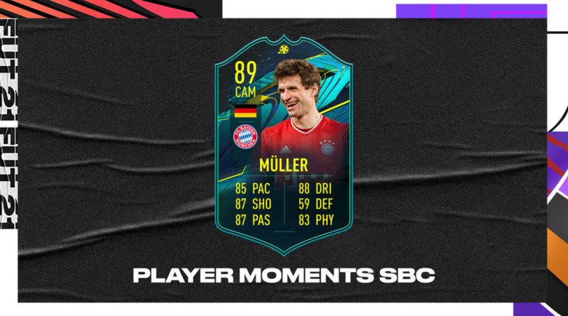 FIFA 21: Thomas Muller player moments 89 SBC