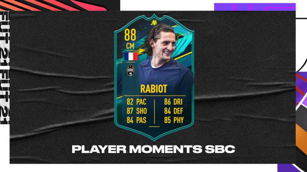 FIFA 21: Rabiot Player Moments SBC