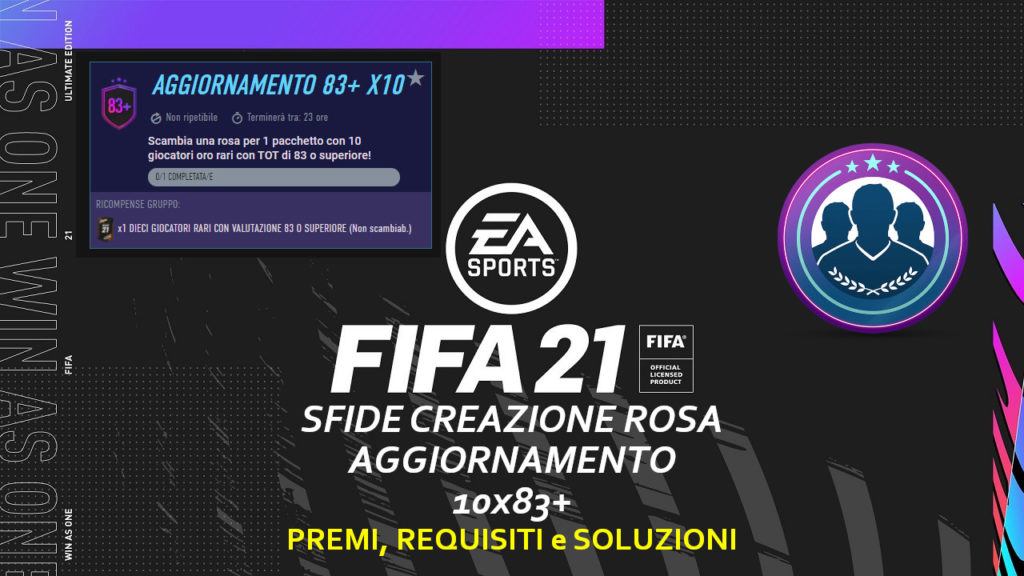 FIFA 21: SBC aggiornamento 10x 83+