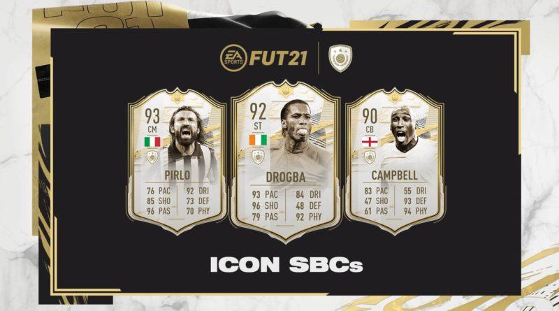FIFA 21: Pirlo, Drogba e Campbell icon SBC