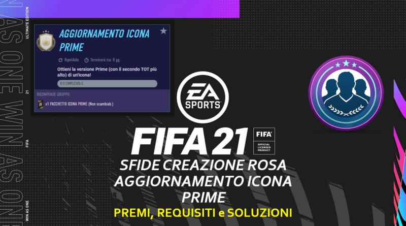 FIFA 21: sfida creazione rosa aggiornamento icona prime ripetibile
