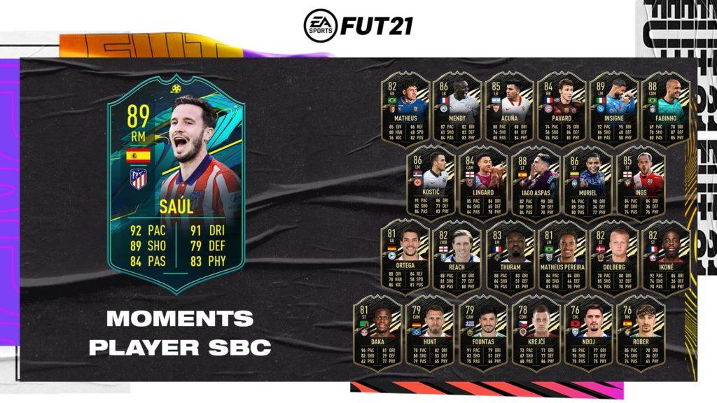 FIFA 21: Saul Niguez player moments SBC