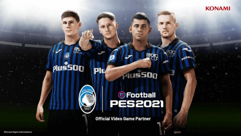 Partnership esclusiva fra Atalanta e Konami per PES 2022