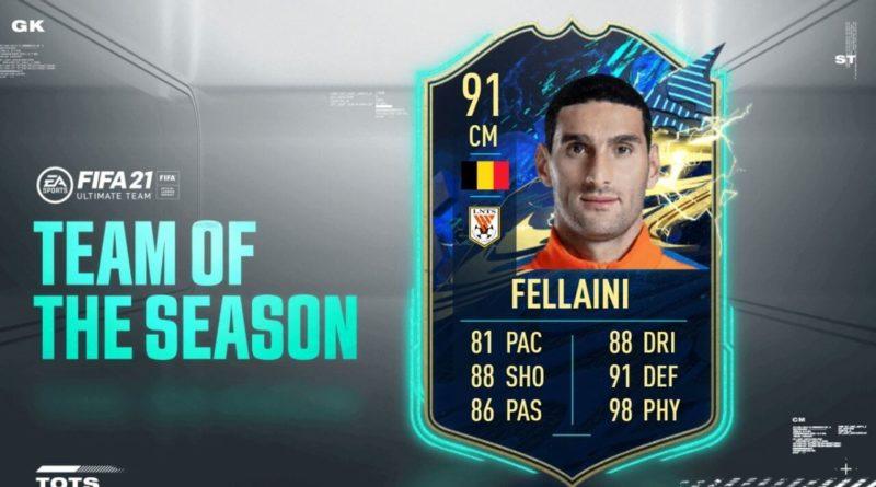 FIFA 21: Fellaini CSL TOTS SBC