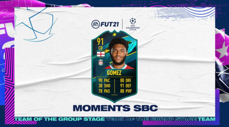 FIFA 21: Joe Gomez player moments SBC